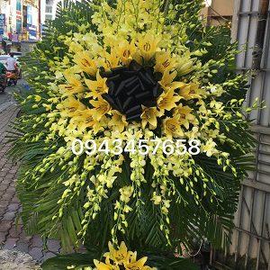 lẵng hoa lan vàng giá 1tr400